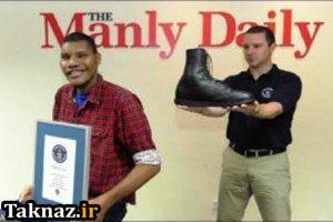 ساخت بزرگترین کفش برای بزرگترین پای جهان ! (عکس)