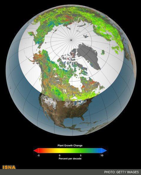 سبز شدن قطب شمال+عکس