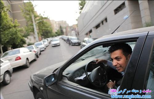 فردوسی پور در ماشینش